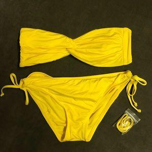Mossimo Yellow Bandeau Bikini